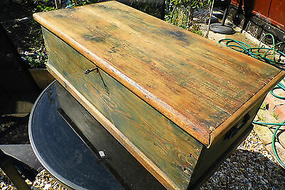 Shabby chic Chest Trunk coffer shabby chic Victorian LARGE 19th antique