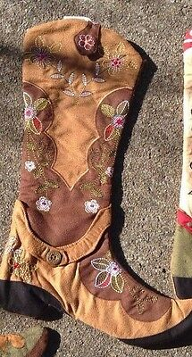 Country Rustic Cowboy Boot Christmas Stocking-Christmas-Decorate Fireplace