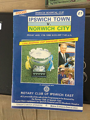 Ipswich town v Norwich city hospital cup  1990