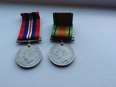 World War II War Medal 1939-45 And Defence Medal Duo. Nice Pair.