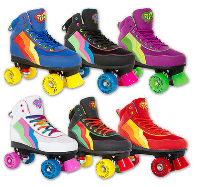 Girls Womens Rollerskates - SFR Rio Roller Disco Quad Skates - Various Colours