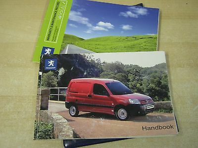 Peugeot Partner Van Owners Manual Handbook 2005-2010 & Service Book