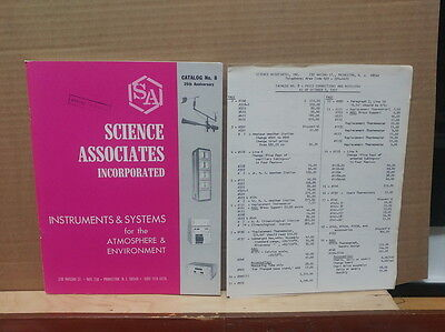 Science Associates Instruments & Systems Atmosphere & Environment 1972 Catalog