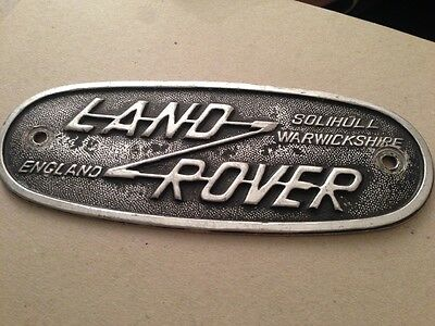 Land Rover Solihull Warwickshire Oval Badge Plaque
