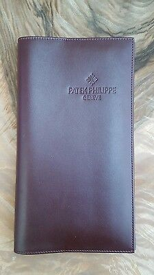 patek philippe soft leather wallet passport holder with manual and warranty book