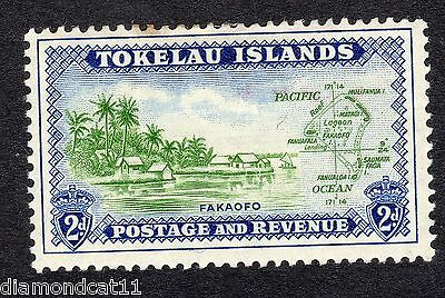 1948 Tokelau 2d Fakaofo Village and Map SG 3 Mounted Mint R16724