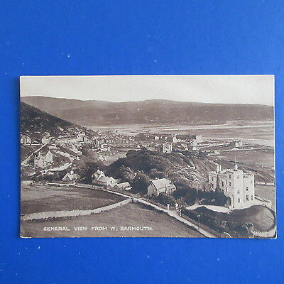 Old Postcard of a General View from West, Barmouth.