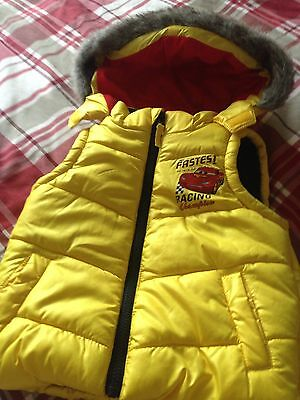 Cars Yellow Body Warmer Size 2-3 Years