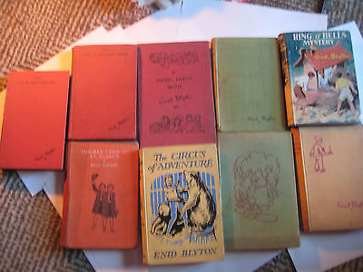 Lot Of 8 Enid Blyton Books First 1St Editions