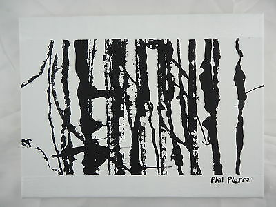Phil Pierre - STRING 052 - new original abstract acrylic art painting on canvas