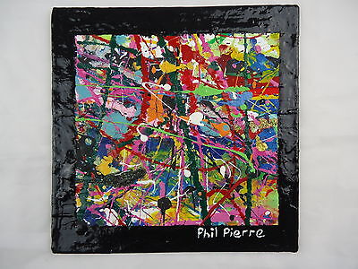 Phil Pierre - BUBBLE GUM 265 - new original abstract acrylic painting on board
