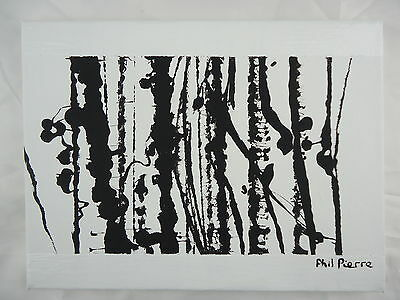 Phil Pierre - STRING 055 - new original abstract acrylic art painting on canvas