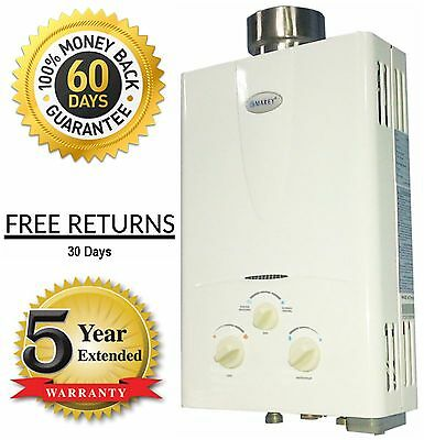 Natural Gas Tankless On Demand Hot Water Heater 3.1 GPM 10NG