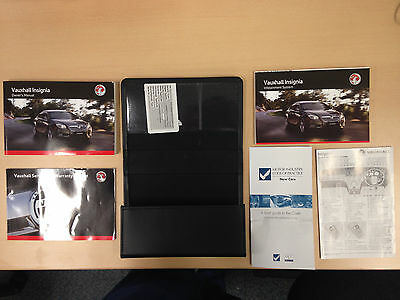 VAUXHALL INSIGNIA SERVICE BOOK HANDBOOK & WALLET PACK - 2008 To 2013 VERY GOOD
