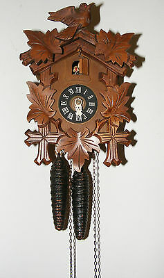 Vintage Black Forest Regula Cuckoo Clock With All Acessories
