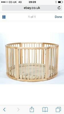 LARGE Wooden Playpen with Playmat