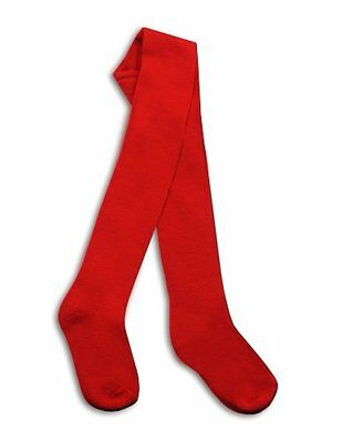 Back To School Thick Red Tights   Age 9-11