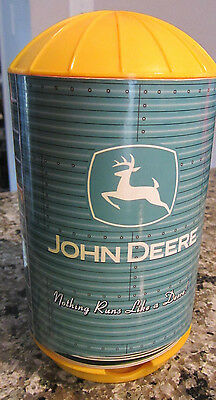 John Deere Silo Coaster Dispenser with Coasters