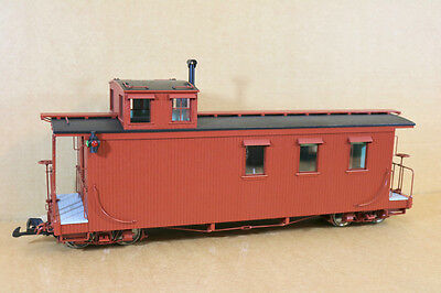 BACHMANN SPECTRUM 88799 G SCALE LONG CABOOSE VAN WAGON with INTERIOR & LIGHTS ni