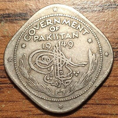 1949 Pakistan Two Annas Crescent & Star Coin