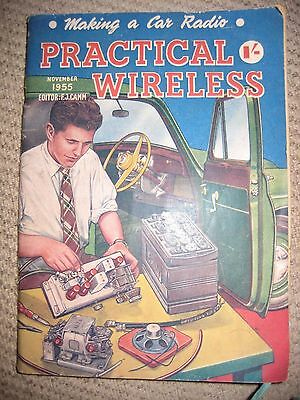 """Vintage Collectable Magazine Practical Wireless 1955 """"Making a Car Radio"""""""