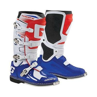 Gaerne SG-10 SG10 Red White Blue Men's Size 12 MX Off Road Boots 2190-026-012