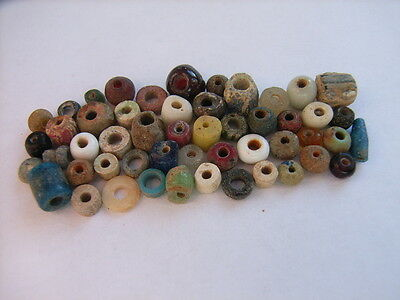 50 Ancient Roman Smaller Glass, Clay, Stone Beads Romans VERY RARE!  TOP !!