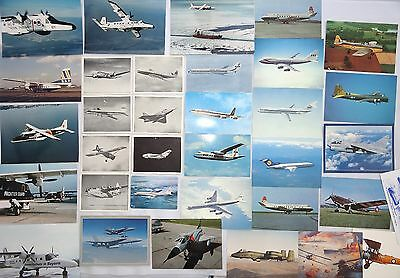 Selection Vintage 'restricted' Aircraft Aeroplane Postcards & Photographs Photos
