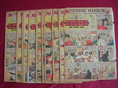 Barney Baxter, 13 sunday Tab pages from 1939, Jan-Apr