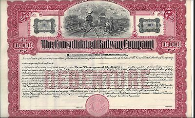 The Consolidated Railway Company(New Haven, Ct). Early 1900's  Debenture