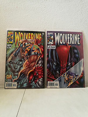 Wolverine #154 + #155 (versus Deadpool) VF/NM 2000