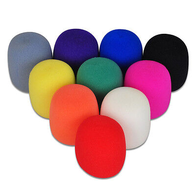 1-10 Colors Handheld Stage Microphone Windscreen Foam Mic Cover HP