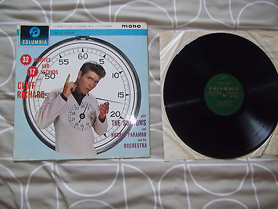 Cliff Richard-32 Minutes And 17 Seconds With 1962 1St Press Columbia Lp