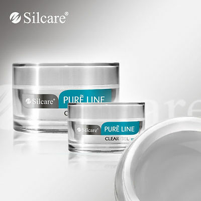 Silcare Pure Line Clear 50g UV Gel Nails Acid Free Builder Medium Thick File Off