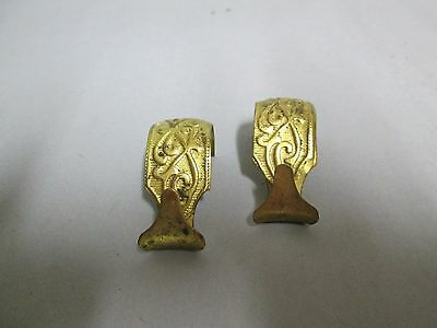 2 Hangers Picture Brass For Crown Molding Victorian S Hooks
