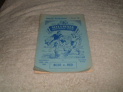MILLWALL BLUE v RED 18th August 1955