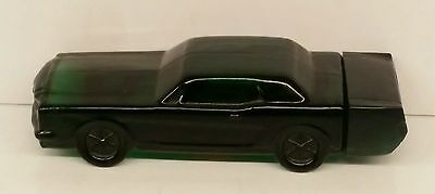 Avon 1994 Wild Country Cologne decanter Mustang green glass perfume bottle car