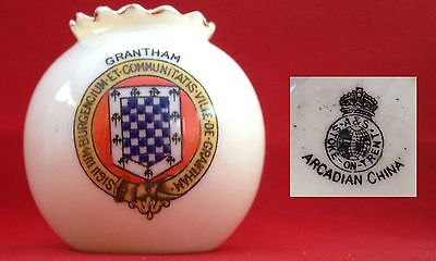 Arcadian crested china. Grantham crest.