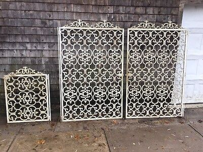 3 VTG. Cast Iron Gates Very Ornate