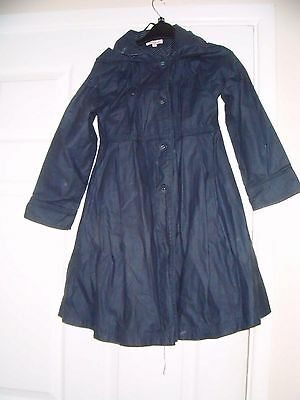 Girls Blue Zoo Traditional Mac Coat Age 9 Years Navy Blue Hooded