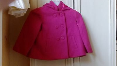 Girls Pink Button Up Cape Age 5-6 Years
