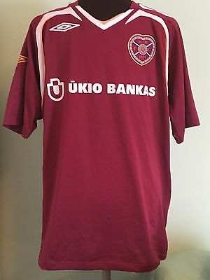 Official Hearts Home Football Shirt By Umbro Size Gb Adult Medium