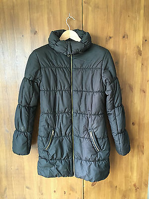 H&M QUILTED COAT Black Puffa Winter 14 Years / UK 8 / EUR 36 - VGC