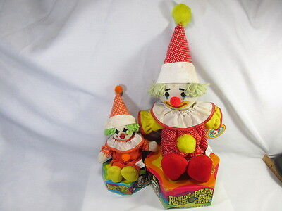 1982 Ringling Brothers Barnum And Bailey Circus Plush Clown Doll Lot Of Two