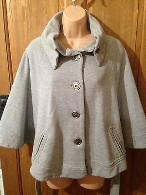 Great Girls New Look Generation Grey Cape Jacket Coat 12 - 13 Years