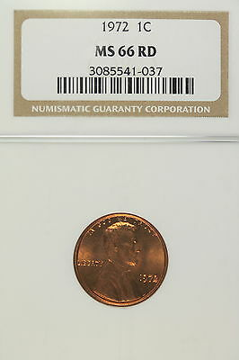 1972 Ngc Ms66 Red Lincoln Cent!!!! #E1844