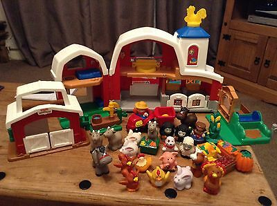 Little people farm with animals and figures