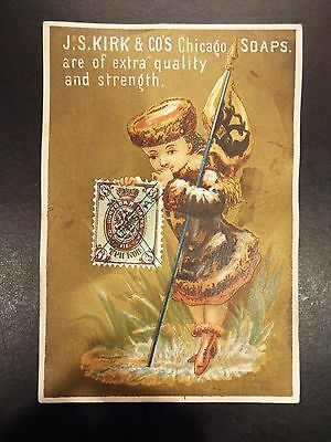 J.S. Kirk & Co.'s Chicago Soaps Victorian Trade Card