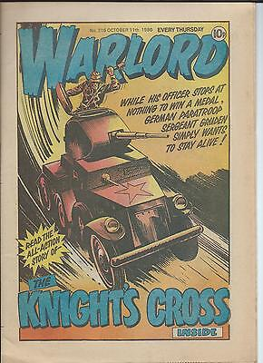 Warlord Comic number 316 , Oct 11th 1980