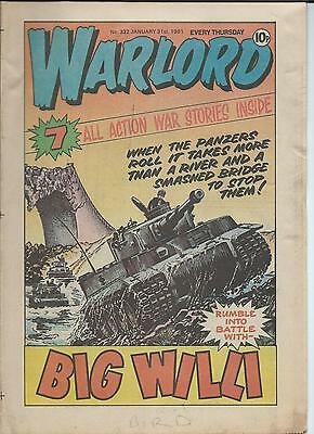 Warlord Comic number 332 , Jan 31st , 1981